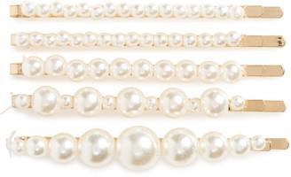 Tasha Set of 5 Imitation Pearl Bobby Pins