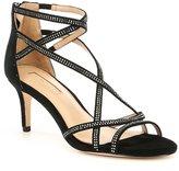 Antonio Melani Solmer Criss-Cross Rhinestone Suede Dress Sandals