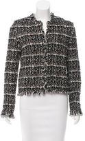 Les Copains Collarless Tweed Jacket w/ Tags