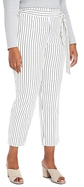 1.state Plus Striped Tapered-Leg Pants