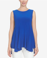CeCe High-Low Handkerchief-Hem Top
