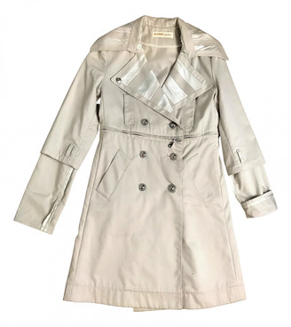 Kaviar Gauche Beige Cotton Trench coats