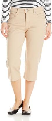Lee Uniforms Lee Women's Petite Relaxed Fit Capri Pant Cafe 6 Petite