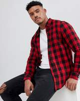 Pull&Bear Regular Fit Shirt In Red Check