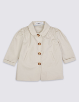 Marie Chantal Marie-chantal Girls Cotton Textured Lightweight Jacket with Stretch (3 Months - 5 Years)