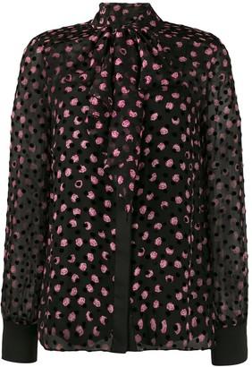 Dvf Diane Von Furstenberg Minnie Devore pussy-bow blouse
