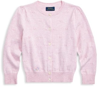Ralph Lauren Little Girl's & Girl's Pima Cardigan