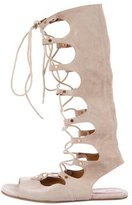 Chloé Suede Lace-Up Tall Sandals
