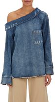 Robert Rodriguez Women's Denim Off-The-Shoulder Top