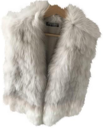 Yves Salomon White Fox Knitwear for Women