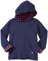 Jo-Jo JoJo Maman Bebe Hooded Sweatshirt (Toddler/Kid) - Navy/Fuchsia-4-5 Years