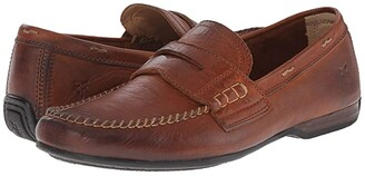 Frye Lewis Penny (Cognac Oiled Vintage) Men's Slip on Shoes
