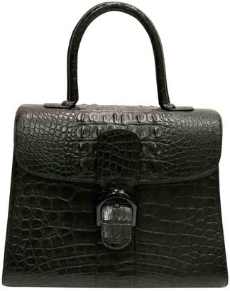 Delvaux Le Brillant Black Alligator Handbags