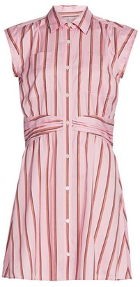 Derek Lam 10 Crosby Cora Stripe Shirtdress