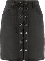 L'Agence Portia Lace-Up Mini Skirt