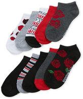 Steve Madden Girls 7-16) 10-Pack Low Cut Roses Socks