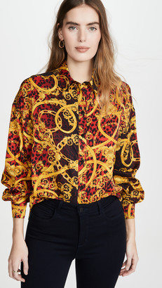 Versace Printed Button Down
