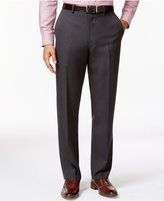 Alfani Big and Tall Slim Charcoal Flat-Front Pants, Only at Macy's