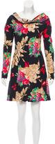 Christian Lacroix Silk Cowl Neck Dress
