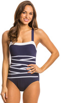 Nautica Swimwear Signature Strapping One Piece Swimsuit 8139446