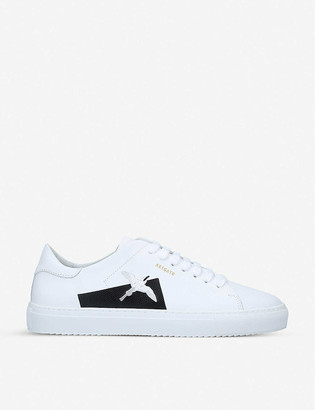 Axel Arigato Clean 90 bird-embroidered leather trainers