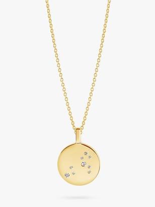 Sif Jakobs Jewellery Zodiaco Leo Cubic Zirconia Round Pendant Necklace