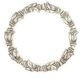 Georg Jensen Sterling Silver Tulip Link Choker Necklace