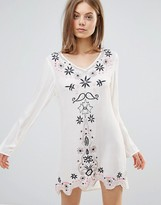 Glamorous Embroidered Smock Dress