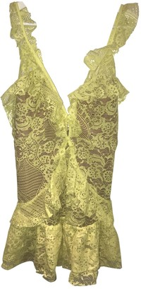 For Love & Lemons \N Yellow Lace Dress for Women