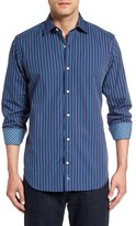 Tailorbyrd Men's 'Appalachians' Stripe Sport Shirt