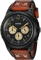 Fossil Mens CH3066 Oakman Chronograph Luggage Leather Watch