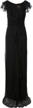 Carolina Herrera Ruched Detail Long Dress