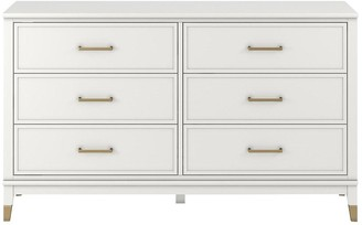 CosmoLiving by Cosmopolitan Westerleigh 6 Drawer Dressing Table - White