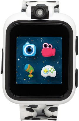 Fisher-Price Black Soccer Print iTouch Playzoom Kids Smartwatch, 52mm