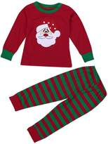 Tenworld Baby Boys Girls Father Christmas T-shirt Tops+Pants Outfits Clothes