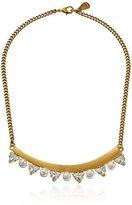 Yochi Geo Pearl Stone Jewel Statement Necklace