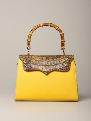 Tari' Rural Design Tarigrave; Rural Design Large Yellow Bag In Crocodile Leather