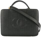 Chanel Pre Owned 1997-1999 2-way Cosmetic Vanity Hand Bag