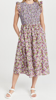 Thumbnail for your product : ENGLISH FACTORY Floral Smocked Midi Dress