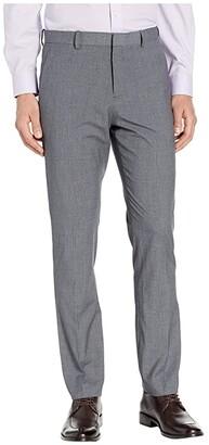 Perry Ellis Portfolio Slim-Fit Subtle Plaid Dress Pants (Brushed Nickel) Men's Dress Pants