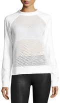 Alo Yoga Elemental Mesh Sweatshirt, White