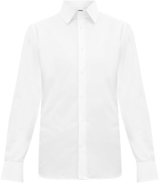 Gucci French-cuff Cotton-poplin Shirt - Mens - White