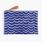 J.Crew Water-resistant pouch in waves