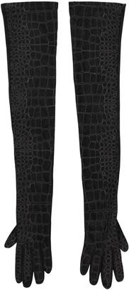 Saint Laurent \N Black Suede Gloves