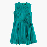 J.Crew Girls' rosette dress in crinkle chiffon