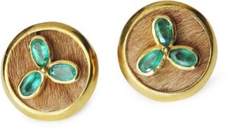 Isabel Englebert Emerald Clover Cufflinks
