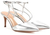 Gianvito Rossi Carlyle Mid leather slingback pumps