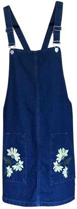 Topshop Tophop Navy Denim - Jeans Dress for Women