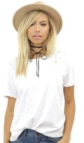 West Coast Wardrobe Fair Game Round Neck Tee in White