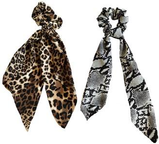 Headbands Of Hope Wild Animal Scrunchie Scarves , Set of 2